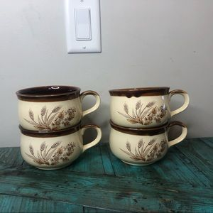 Vintage 70s Stoneware Mugs